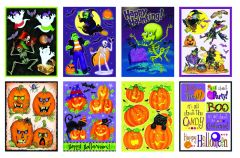 Assorted Halloween Gel Clings Decorations