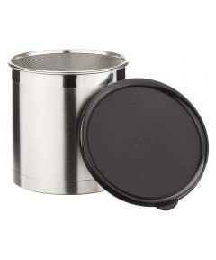 Oggi Jumbo Stainless Steel Grease Can with Strainer
