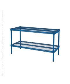 Meshworks 2-Shelf Short Stacking Shoe Shelf, Petrol Blue