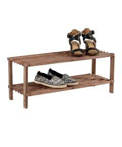 2-Shelf Shoe Rack, Espresso