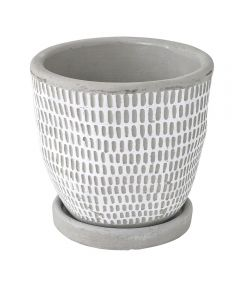 Elemental Ceramic Planter, Dot White