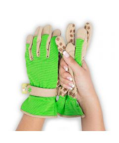 Dig It® Small/Medium Garden Gloves, Green-Tan
