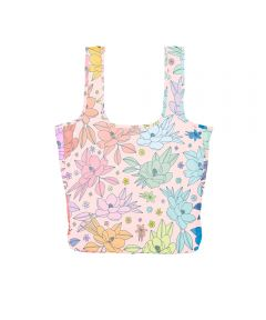 Twist and Shout Reusable Large Tote, Full Bloom