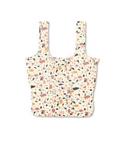 Twist and Shout Reusable Large Tote, Cream