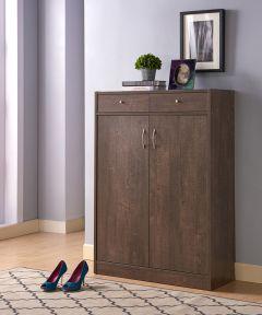 Shoe Cabinet with 2-Drawers, Hazelnut