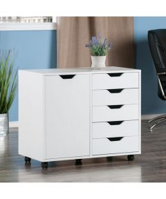 Halifax 5-Drawer, 1-Door Storage Cabinet, White