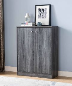 Shoe/Storage Cabinet, Distressed Grey