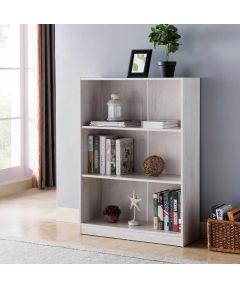 3-Shelf Bookcase, White Oak