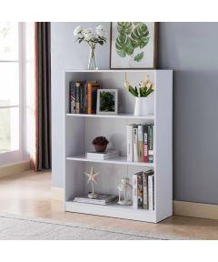 3-Shelf Bookcase, White