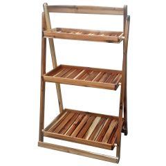 45 in. 3-Tier Wood Ladder Display Shelf