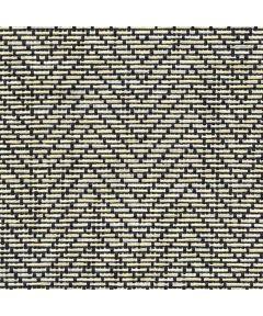 "4' X 12"" Black & Tan Natural Weave Liner Zig Zag Weave"