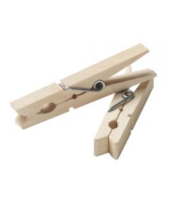 Wood Clothespin, 50 Count
