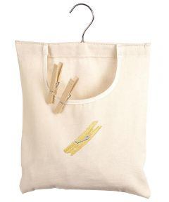 Natural Canvas Clothespin Bag