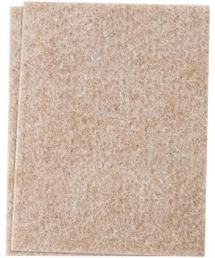 4-1/2x6 Inch Oatmeal Self-Stick Felt Blanket Pads 2 Count