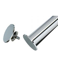 Rod Stops, Set of 2, Chrome