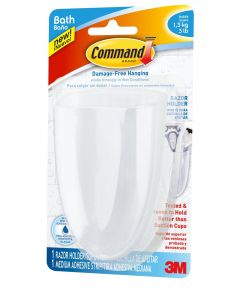 3M Command Razor Holder with Water-Resistant Strips
