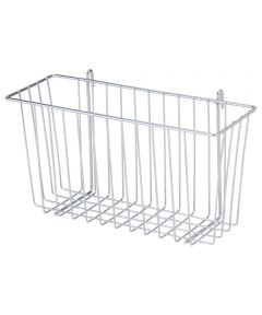 Chrome Wire Accessory Basket, 13.34 x 5 x 7.6 Inches