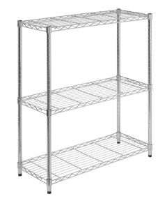 Chrome 3-Tier Shelving Unit, 30 x 14 x 24 Inches