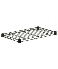 14 x 24 Inch Black Steel Shelf