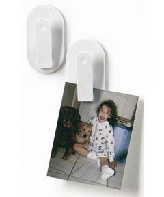 White Magnetic Clips, 2 Count