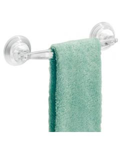 Power Lock Suction Plastic Towel Bar, Clear