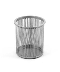 Mesh Pencil Cup, Silver