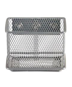 Mesh Magnet Bin, Small, Silver