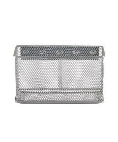 Mesh Magnet Bin, Extra Large, Silver