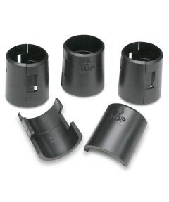 Replacement Adjustable Plastic Sleeve Clips for Shelves, Black