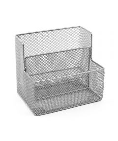 Mesh Step Packet Holder with 2 Pockets, Silver