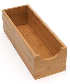 Bamboo Sock Storage Box, Small