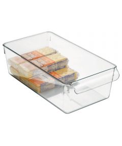 Linus Pullz Pantry Organizer Bin, Clear, 6 x 11.5 x 3.5 Inches