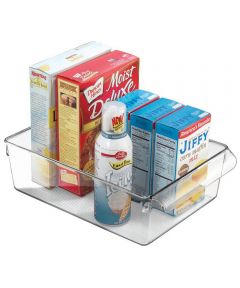 Linus Pullz Pantry Organizer Bin, Clear, 8 x 11.5 x 3.5 Inches