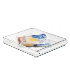 Fridge Binz Kitchen Organizer Tray, Clear, 12x2x14.5 Inches