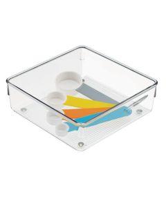 Linus Kitchen Drawer Organizer, Clear, 6x6x2 Inches