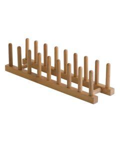 Bamboo Plate & Pot Lid Rack