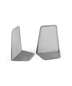 Mesh Bookends, Pair, Silver