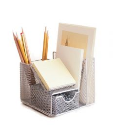 Mesh Office Desk Manager Organizer, Silver