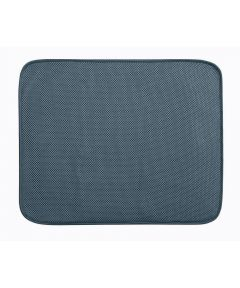 iDry Large Kitchen Dish Drying Mat, Pewter Gray, 18x16 Inches