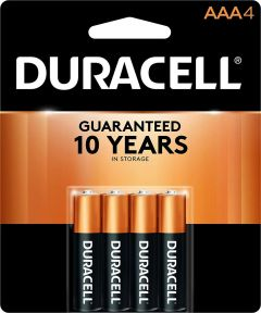 Duracell CopperTop AAA Alkaline Battery, 4 Pack