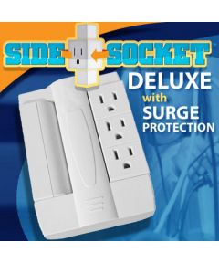 Side Socket Swivel Outlet, White