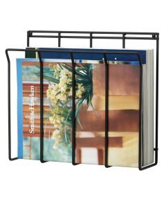 Black Wall Mount Magazine Rack