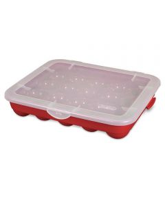 Sterilite Christmas Ornament Storage Case