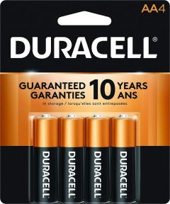 Duracell CopperTop AA Alkaline Battery, 4 Pack