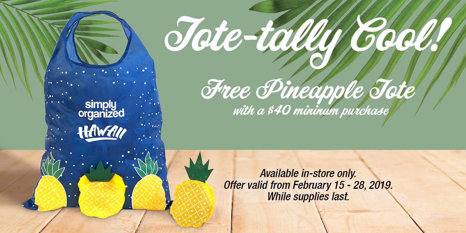 Free Pineapple Tote Kahala Mall