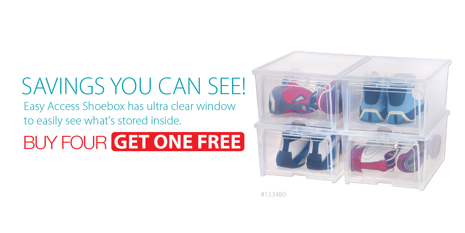 Easy Access Shoe Box Drop Front