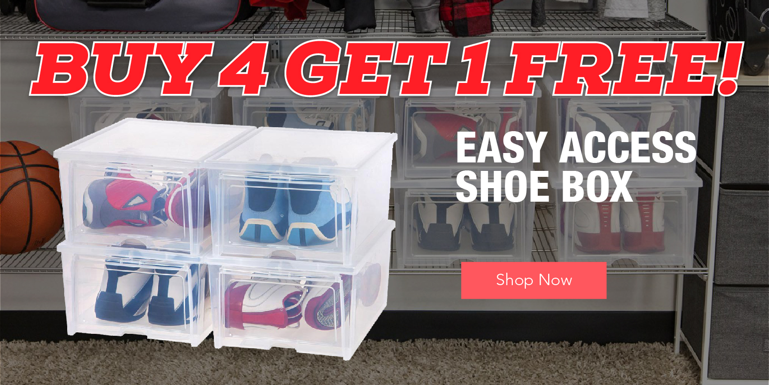 SO Easy Access Shoe Box Buy 4 Get 1 Free