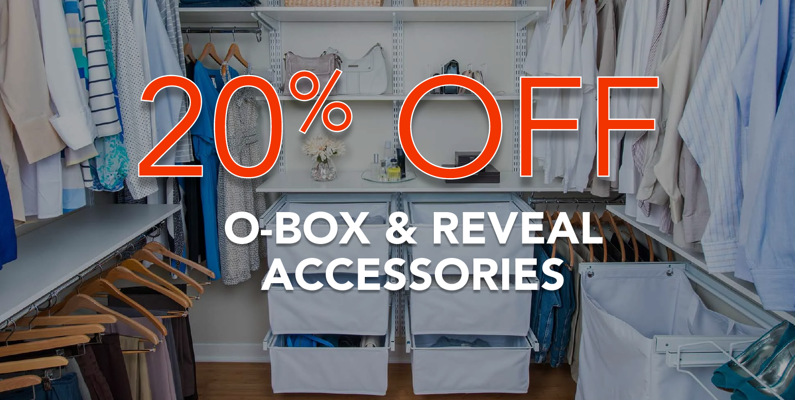 Simply Organized 20% off freedomRail O-Box Accessories