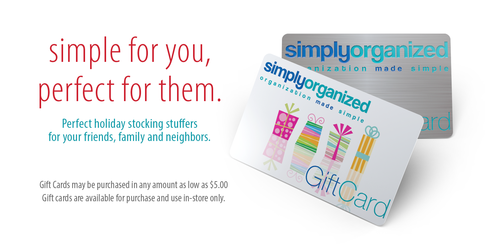 Simply Organized Gift Cards