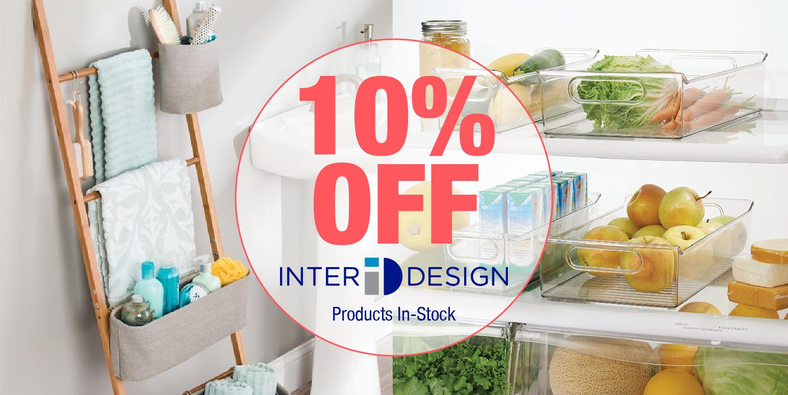InterDesign Sale 10% Off